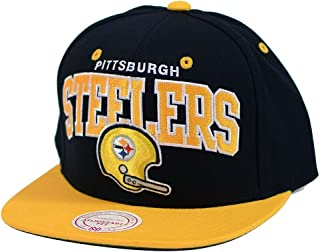 Mitchell & Ness Pittsburgh Steelers Arch W/Helmet Black/Yellow Snapback
