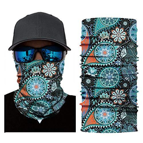 WEIGENG Turban aus Polyester, Digitaldruck, ethnisch, magisch, für Reiten, Outdoor-Sport, nahtlos, schnell trocknend (Farbe: 08)
