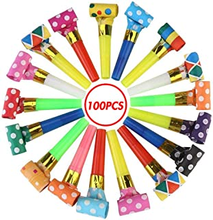 Koogel 2.75 Inch Party Blower,100 Pcs Multicolor Musical Blowouts Birthday Party Favors New Years Party Noisemakers Party Blowouts Whistles Party Blowouts Fun Party Favors