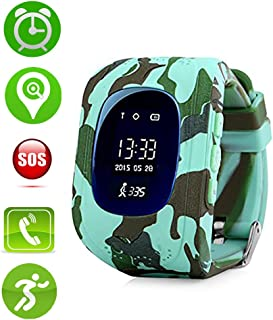 Jsbaby Kids Smart Watch for Children Girls Boys Digital Watch with Anti-Lost SOS Button GPS Tracker Smartwatch Great Gift for Children Pedometer Smart Wrist Watch for iOS Android (Black)