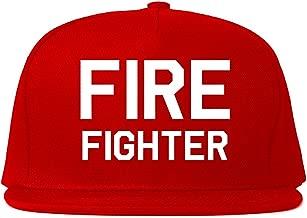 Firefighter Axe Rescue Snapback Hat Cap