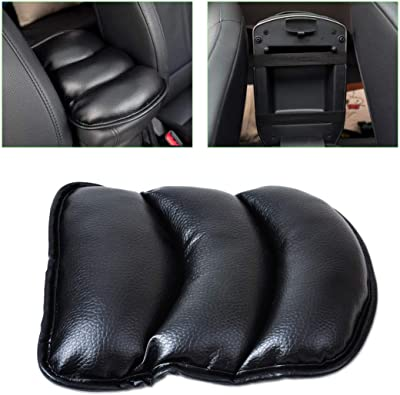 Black Car Armrest Console Pad Cover Cushion Support Box Top Mat Liner Fit for VW Ford
