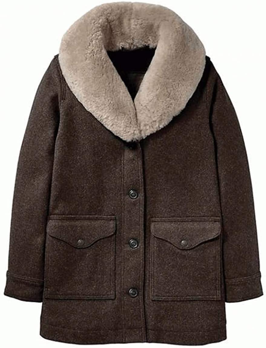 Kelly Reilly Stylish Genuine Brown Coat Wool 3 Season Recommended