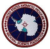 Marathon Studios Parche para chaqueta de programa antártico de Estados Unidos Logotipo de la USAP para hombres (insignia de parche antártica) 3.5 ''