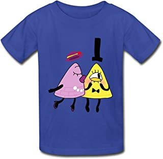 DASY Unisex O Neck Gravity Falls Symbol Mysteries Shirt Medium RoyalBlue 6-16 Years Old