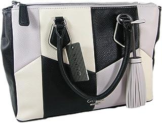 850caa290d00 New Guess Logo Purse Large Satchel Hand Bag Tassel Tote Black Multi  Checkered