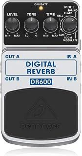 Behringer DR600 - Pedal de efecto reverb para guitarra, color blanco