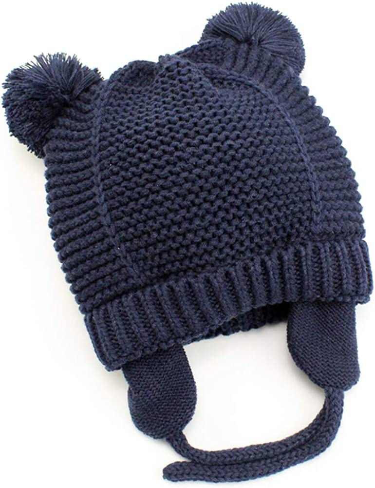Baby Beanie Earflaps 2021 autumn and winter new Hat - Infant Max 48% OFF Soft K Toddler Warm Girls Boys