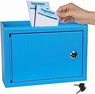 """Kyodoled Suggestion Box,Locking Mailbox, Key Drop Box, Wall Mounted Mail Box,Safe Lock Box,Ballot Box,Donation Box 9.8"""" W ..."""