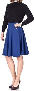 Comfy and Lovely A-line Full Flared Skater Knee Length Skirt
