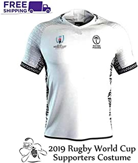 2019 World Cup Rugby Jersey Rugby Jersey Fiji Home/Travel Shirt for Men Short Sleeve Leisure T-Shirt Training Suit Fiji Ho...