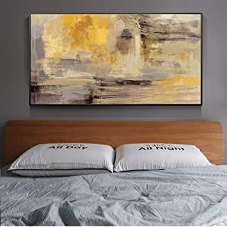 YYJHMK Abstract Wall Art Canvas Prints Yellow Color Wall Graffiti Art Paintings On The Wall Modern Wall Posters