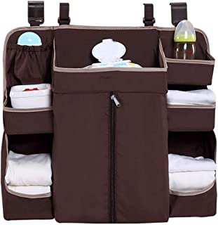 Wenzhihua Bed Hanging Organizer Baby Nursery Diaper Organizer Hanging Caddy Organizer For Baby Crib  Playard  Changing Table For Baby Cot Bunk Bed  Color Picture color  Size 58X14X50CM