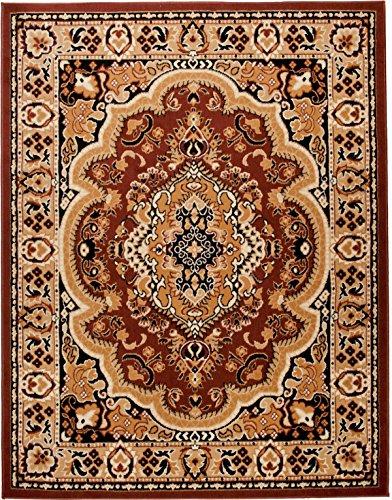Carpeto Orientteppich Teppich Braun 80 x 150 cm Medaillon Muster Kurzflor Verona Kollektion