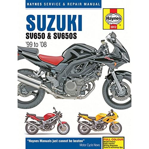 suzuki sv650 & sv650s '99 to '08 (haynes service & repair manual) paperback  – july 1, 2015