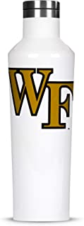 Corkcicle  Canteen - 16oz NCAA Triple Insulated Stainless Steel Water Bottle, Wake Forest Demon Deacons, Big Logo
