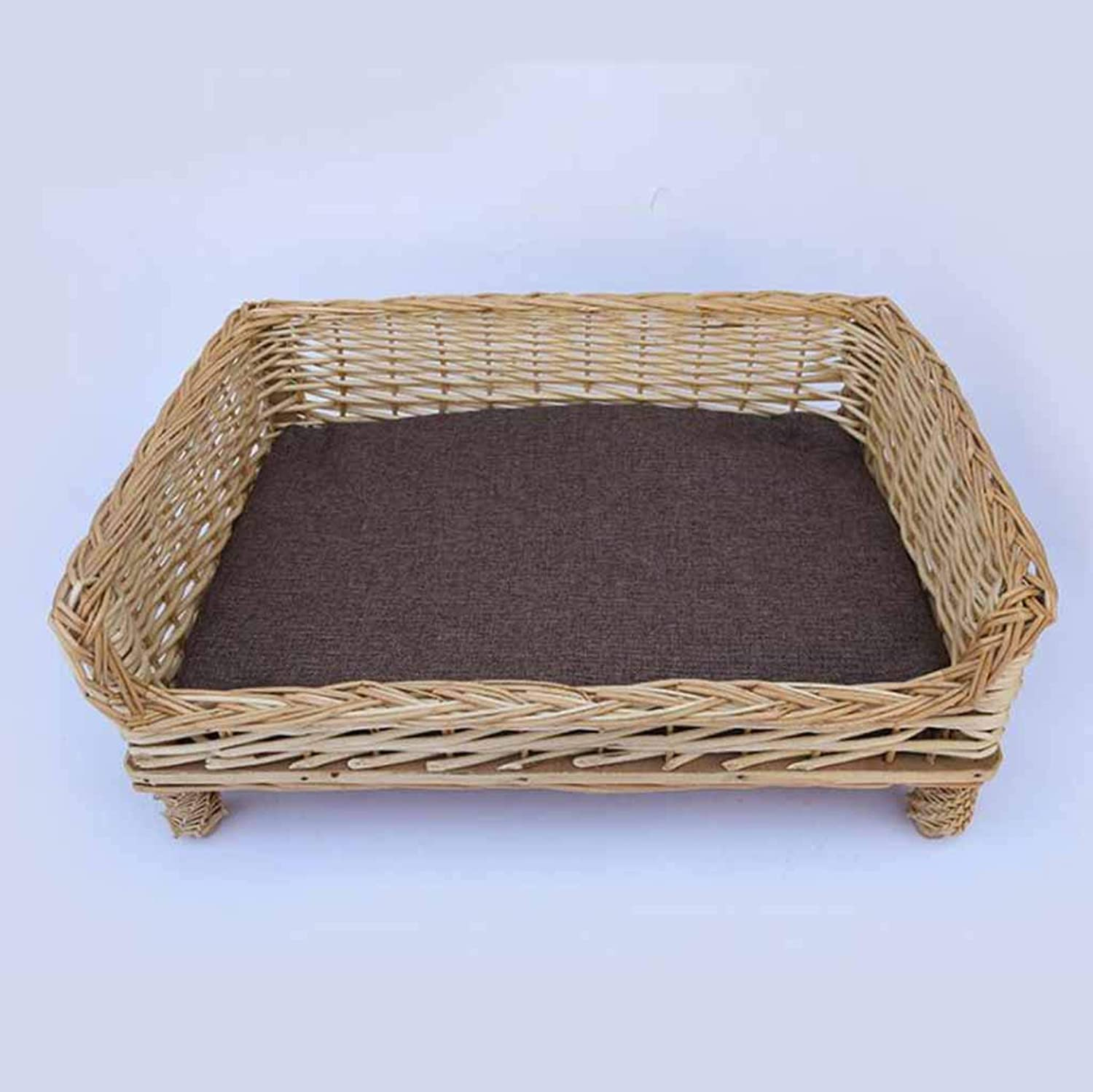 Pet Nest Pure HandWoven Wicker MultiStandard Cat Litter Dog Kennel Removable and Washable Pet Supplies