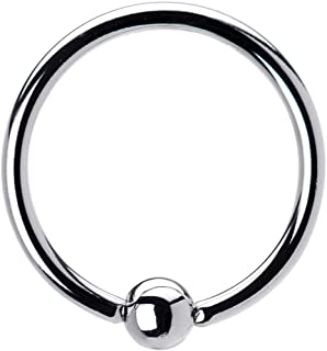 FIFTH CUE 16G | 14G Colored Tension Captive Titanium IP Over 316L Surgical Implant Grade Steel Bead Ring