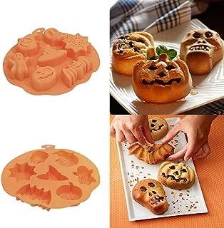 Manyo 8,4 x 6,7 x 0,9 cm Moulle /à Bonbon Halloween Citrouille Moulle /à Chocolat Silicone