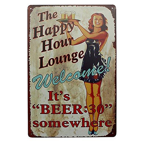 Bazaar Lounge Bier Tin Teken Vintage Metalen Plaque Pub Bar Thuis Muurdecoratie
