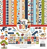 Echo Park Paper Company All Boy Collection Kit Paper, red, Green, Navy, Blue, Orange, Kraft