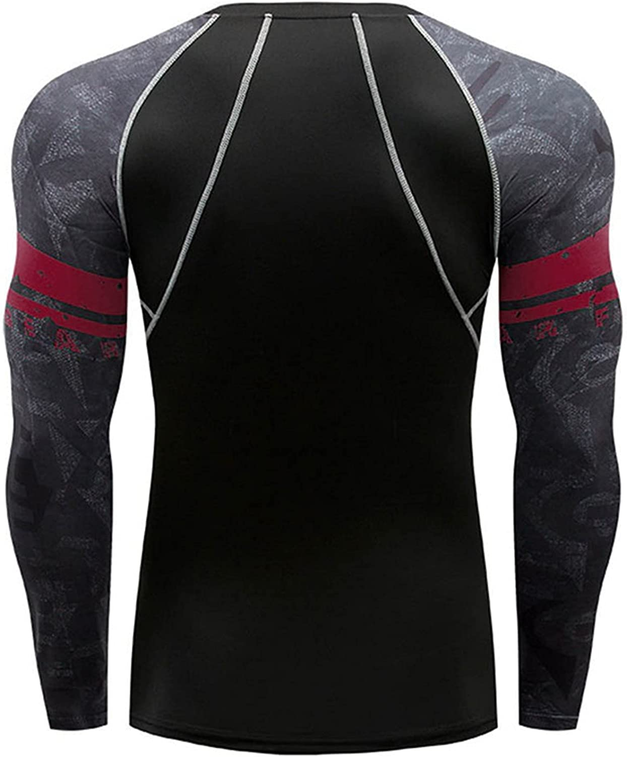 Men's New Muscle Gym Workout Tops Fashion Patchwork Long Sleeve Fitness Training Athletic Shirts