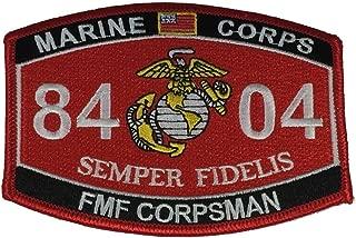 MARINE CORPS 8404 FMF CORPSMAN SEMPER FIDELIS MOS Patch - Vivid Colors - Veteran Owned Business.