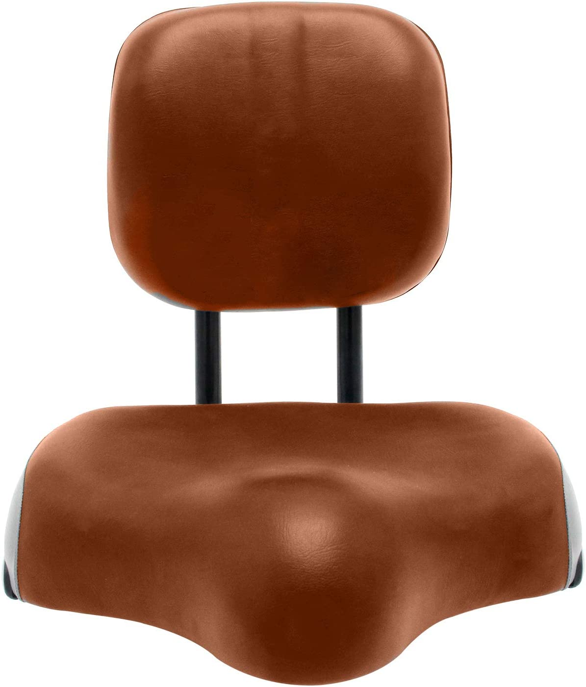11.5 x 9.5in Large Saddle ABORON Universal Wider Bicycle Backrest Saddle Seat Faux Leather Cycling Seat Cushion with Backrest