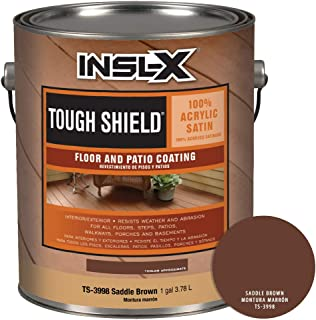 INSL-X TS399809A-01 Tough Shield Floor and Patio Coating Paint, 1 Gallon, Saddle Brown