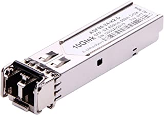 10Gtek Gigabit SFP LC Multi-Mode Transceiver, 1000BASE-SX Mini-GBIC Module for D-Link DEM-311GT (850nm, DDM, 550m)