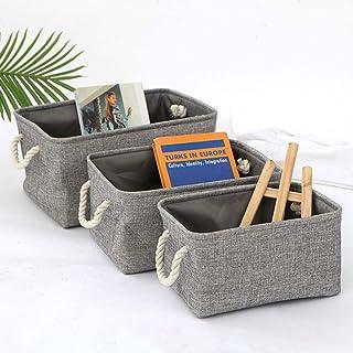 N\C Boîte de rangement pliable en lin de grande capacité pour armoire, tiroir, sous-vêtements, chemise, organiseur de vête...