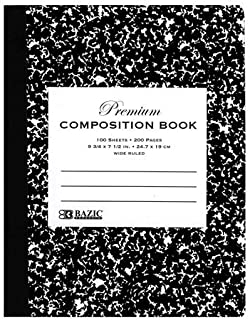 $76 » BAZIC UNRULED 100 Ct. Black Marble Composition Book (Case of 48)