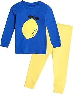 Conjunto de pijama orgánico de manga larga para niños y niñas, 100% algodón