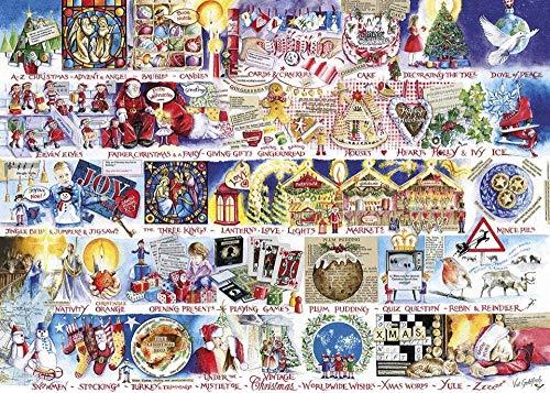 Yzqxiongtu Kerst Alfabet Puzzel 1000 Stuks, Landschapspuzzels Volwassen Stress Toy, Zeer Uitdagend Kid En Teen Casual Legpuzzel