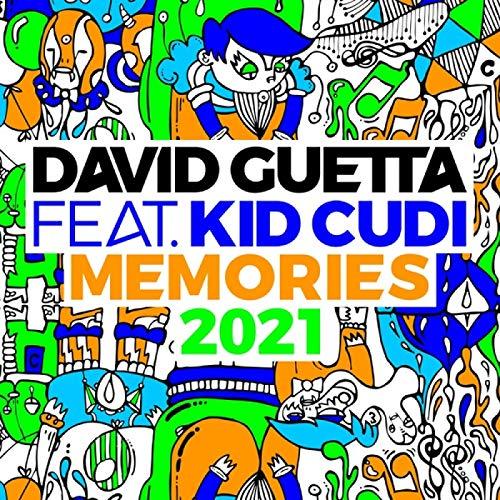 MGSHN David Guetta & Kid Cudi 2021 Remix Album Memories Cover Poster Affiche Exclusive pour Les Fans Collection Art Print sur Toile cadeau-60x60cm sans Cadre