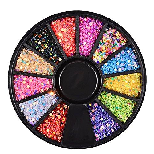 YUYOUG 3D Diamonds Dazzling Tips Nail Sticker Paillettes Colorées Nail Art Décoration