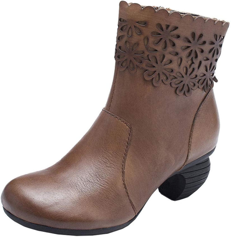 AIFIY Damen Schnürstiefeletten Autumn Stiefelies Damenstiefel Knight Stiefel Fall