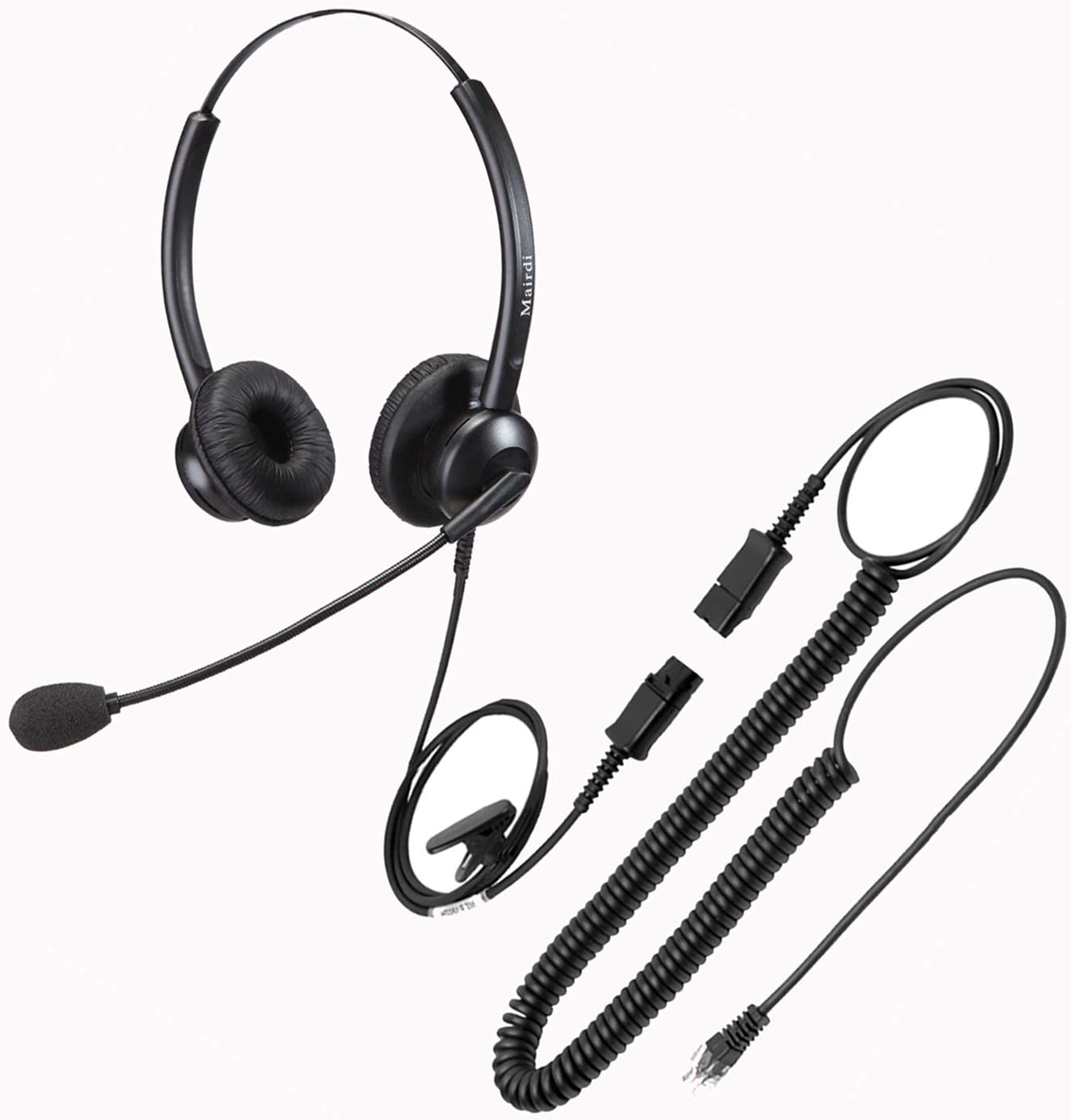 MAIRDI Telephone Headset for Cisco Phone, Binaural Office Headset with Noise Cancelling Microphone RJ9 Jack for Cisco 7942 7971 8841 8845 8851 8861 8945 8961