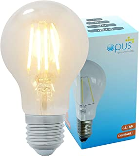 Opus Decorative Vintage LED GLS Clear Filament Light Bulb 5W Edison Screw ES E27 Very Warm White