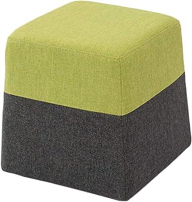 Amazon.com: XSJ-Footstools Otomano Puf tapizado reposapiés ...
