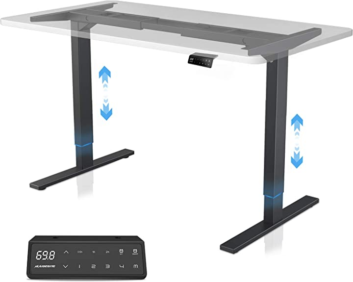Scrivania elettrica sit-stand scrivania regolabile in altezza a 2 livelli maidesite B083T9Z4SG