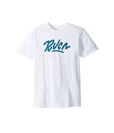 RVCA Flow Short Sleeve T-Shirt (White) Men