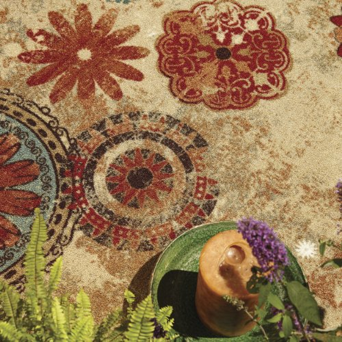 Mohawk Home Alexa Floral Ornamental Medallion Area Rug, 5'x8', Multi