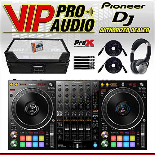 Lowest Price! Pioneer DDJ-1000SRT 4-Channel DJ Controller + XS-DDJ1000WBL Case w/LED Kit + Headphone...