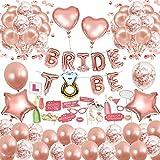 MMTX Bride to Be Globos para Fiestas de Despedida de Soltera con Globos de Oro Rosa, Confetti Globos, and Sccesorios para Cabinas de Fotos