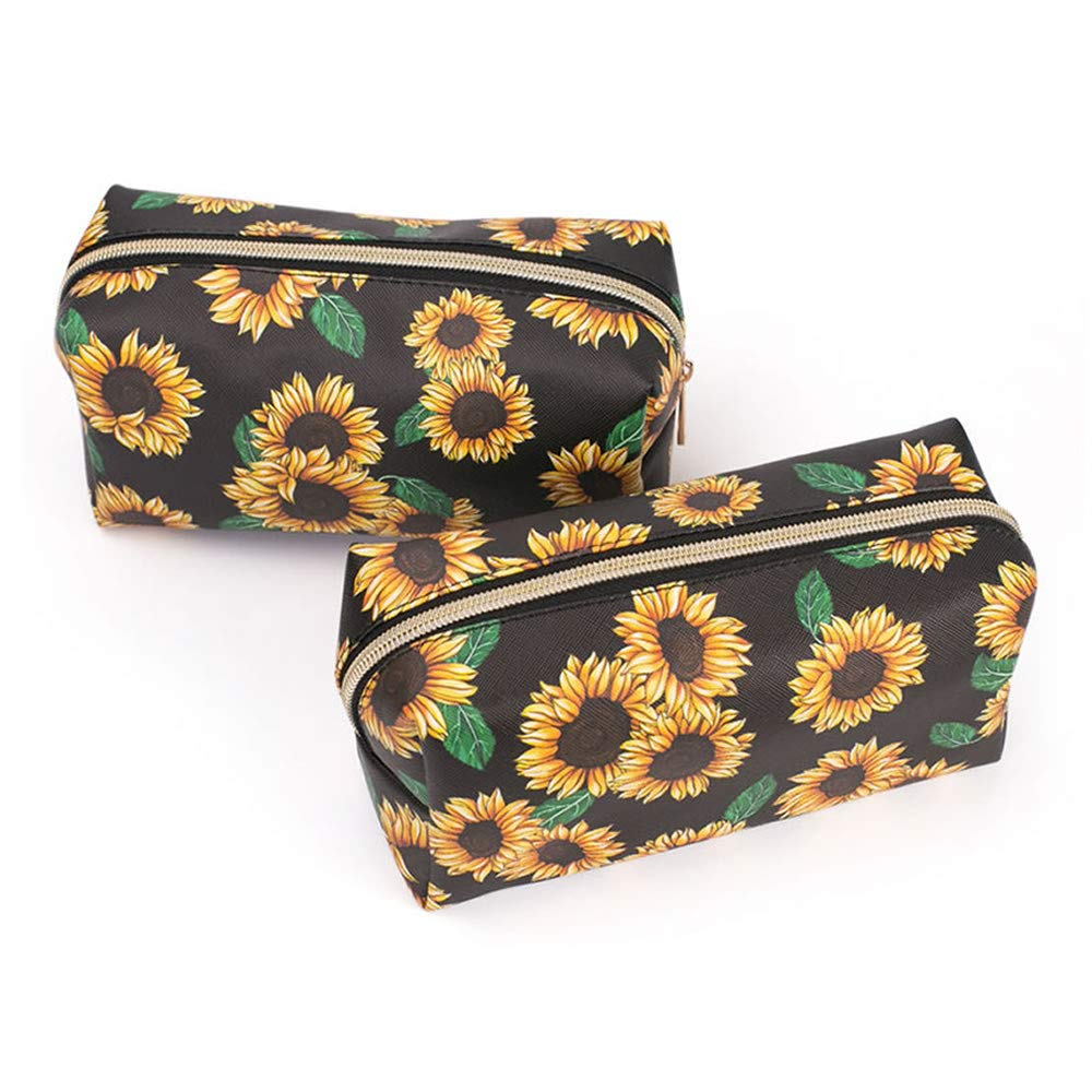 Makeup bags,travel cosmetic bags brush pouch toiletry wash bag portable travel make up case for women and girls (daisy)