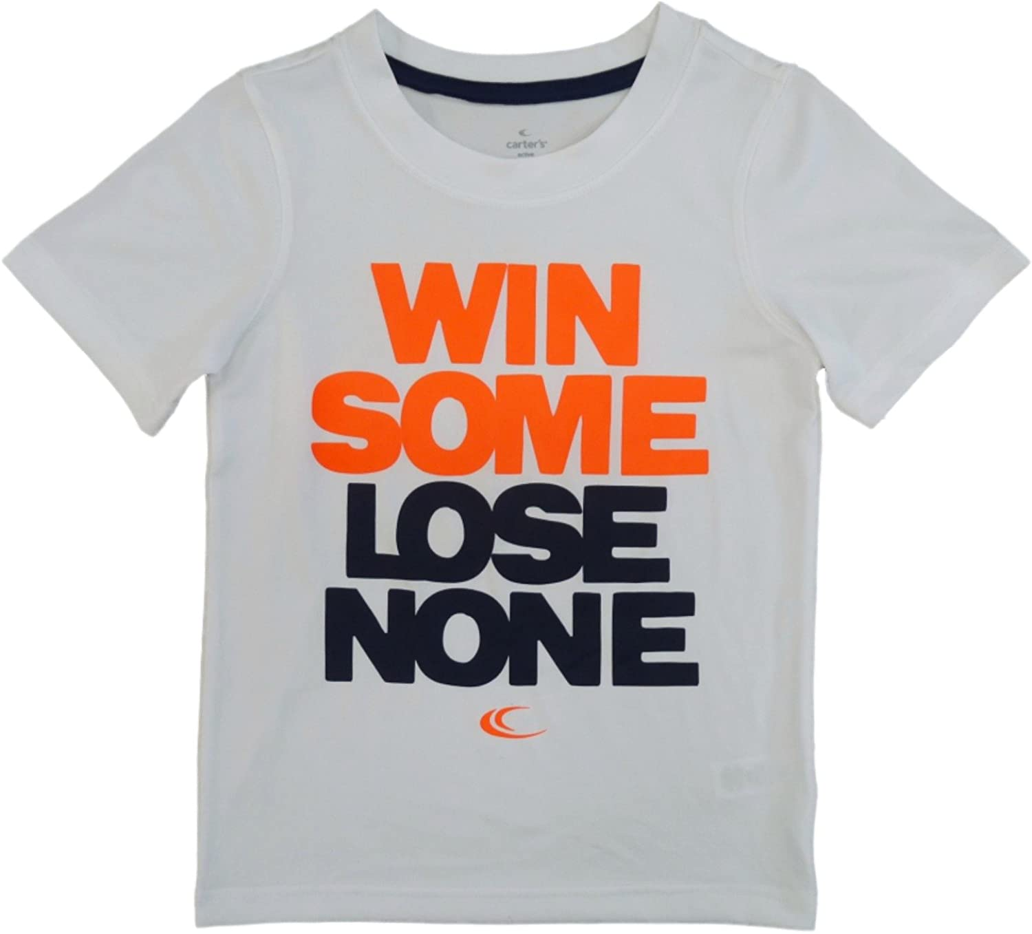 Carter's Boys White T-Shirt Win Some Lose None Athletic Shirt 5