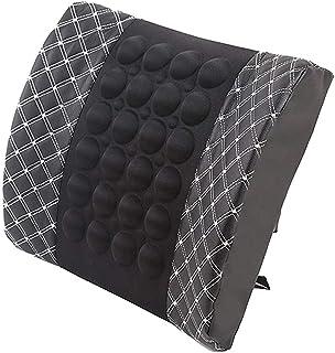 Car Massage Lumbar Support Cushion Electric Car Neck Pillow Safety Seat Head Neck Auto Seat Back Cushion Waist Headrest Su...