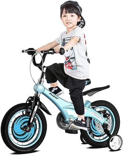 Kinderfürrad mädchen fürrad 12-14-16 Zoll Junge Mountainbike Geeignet für Kinder im Alter von 2-8 Kinderwagen Mountainbike Kindergeschenk (Farbe   Orange, Größe   16INCHES)