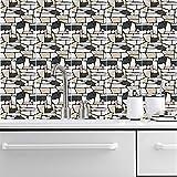 Stickers Muraux en Mosaïque Créative Épaissie PVC Autocollants De Sol Imperméables Et Résistants À l'usure Autocollants De Décoration D'Escalier 10 Pièces